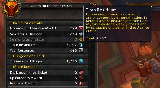 How Much Titan Residuum From Weekly Chest