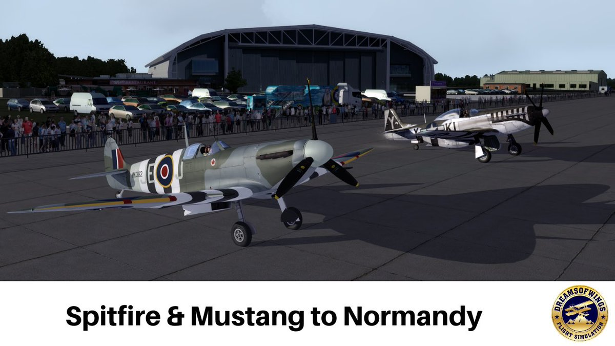 Latest video—> http://youtu.be/Xv3LTmCV0Tw #a2asimulations Spitfire and Mustang to Normandy over some beautiful #orbx terrain.  Incredibly moody skies for the occasion  #spitfire #p51mustang #duxford #daksovernormandy #flightsim #wwiihistory #aviation #warbirds #avgeeks #avgeek