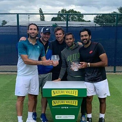 Really happy to get our 1st @atp_challenger  and 2nd @atptour title of the year here in Nottingham with partner @gonzalezsanty . Hope this title win can bring a little smile on all my fellow Pakistanis after our tough defeat today @cricketworldcup<br>http://pic.twitter.com/dH6ytTyI5l