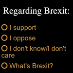 Image for the Tweet beginning: Brexit? Vote in the latest