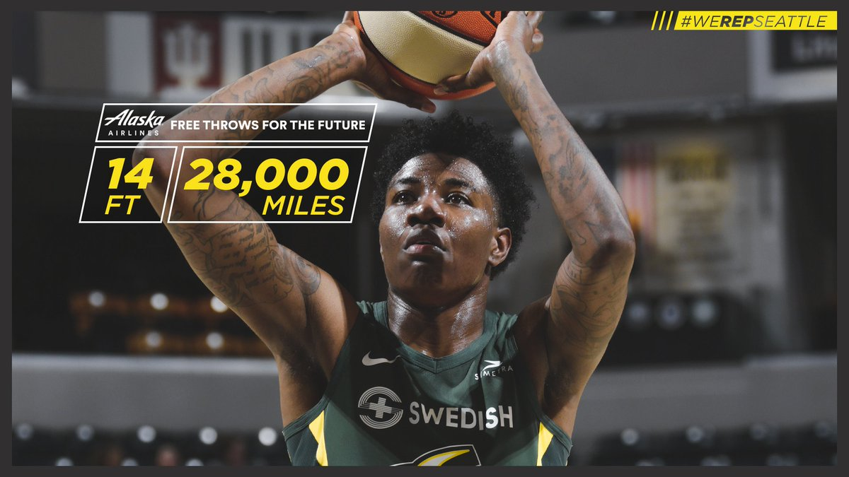 🏀FREE THROWS FOR THE FUTURE!🏀   We hit 14 free throws tonight, which means @AlaskaAir donates 28,000 miles to the Alaska Airlines Miles for Youth Fund 🙌   #WeRepSeattle