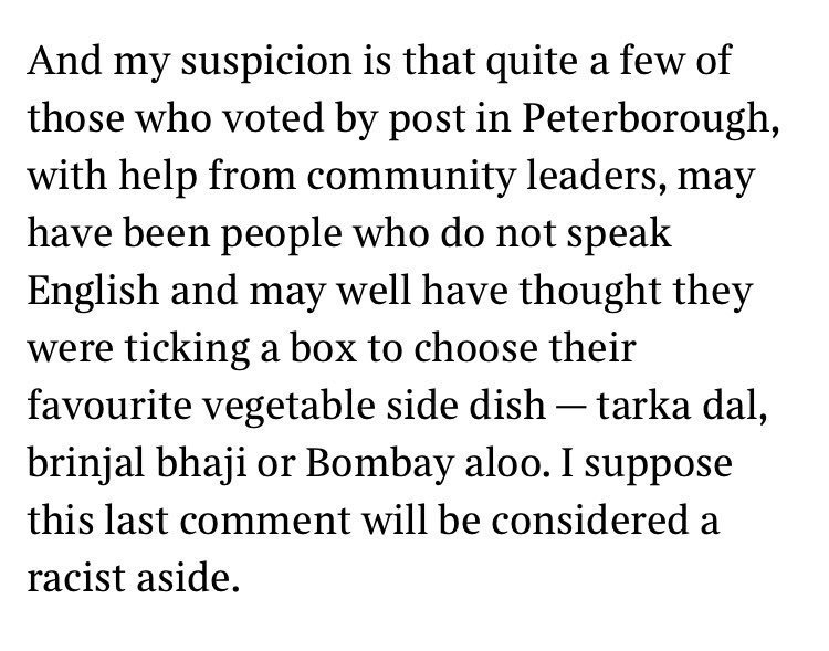 """""""I suppose this comment will be considered a racist aside"""" writes Rod Liddle."""