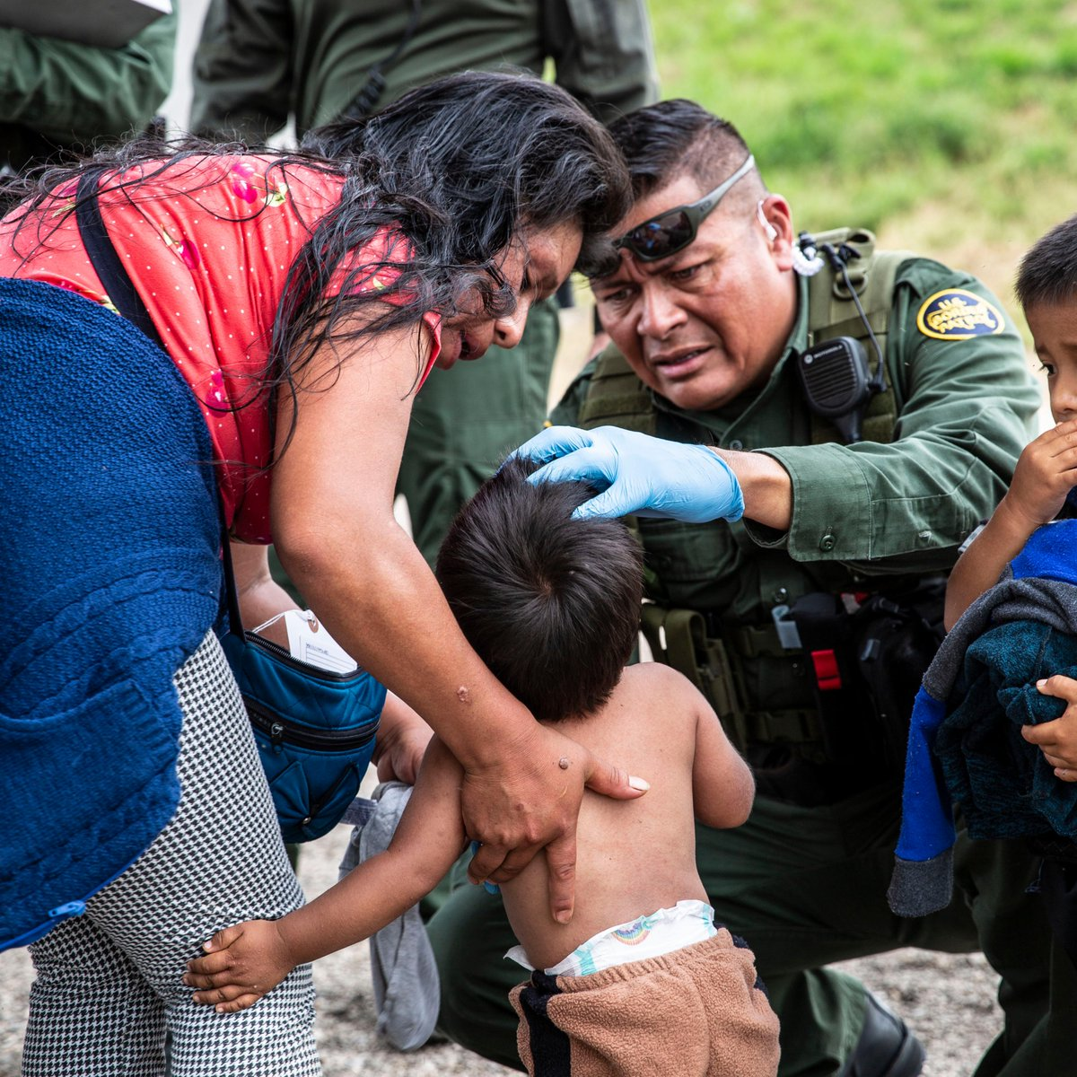 A Border Patrol EMT treated a small child on the border this week suffering from insect bites that covered his body. Over 1,300 Border Patrol agents are trained EMTs—using their skills to save lives and treat injuries of people they encounter.