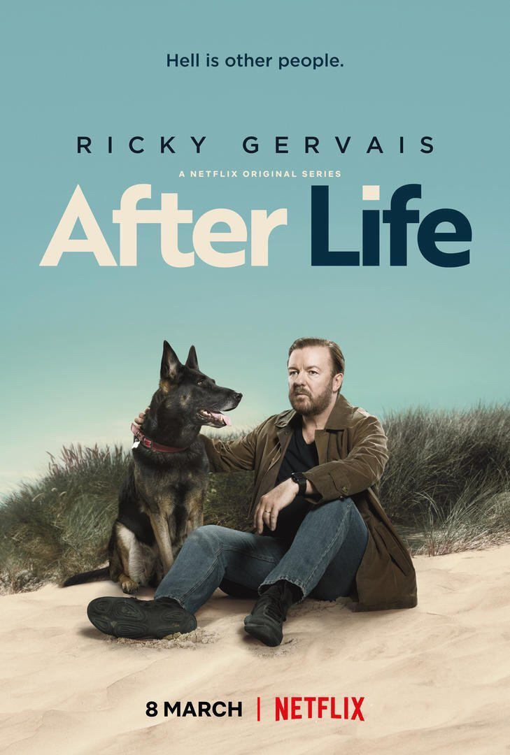 A lovely added bonus that has come with the crazy success of #AfterLife is so many people discovering or rewatching #Derek and #Humanity. The beauty of @netflix. Thank you. Best fans in the world.