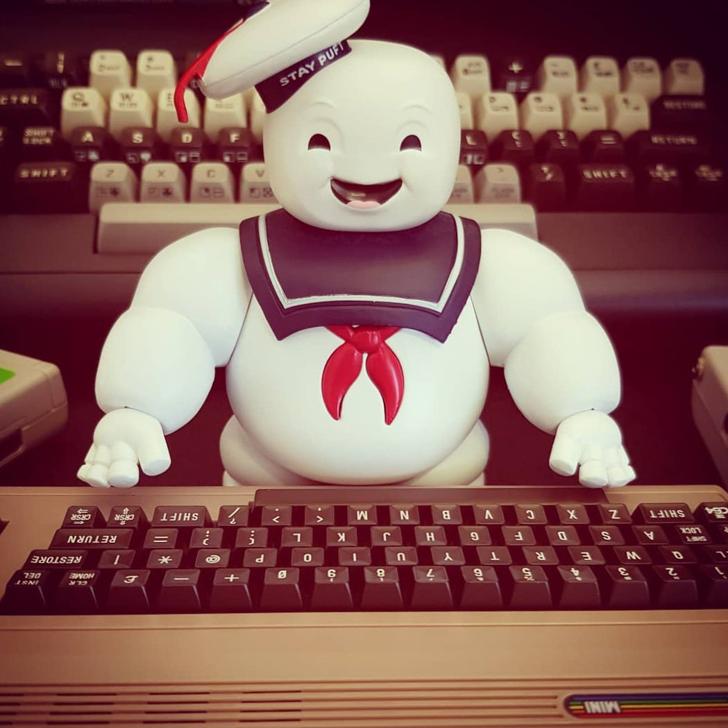 STAY PUFT   #8bit #chiptune #c64 #commodore64 #c64mini #80s #aesthetics #retrogaming #gameaudio #everythingc64 #Ghostbusters #whoyagonnacall #horrorgeek<br>http://pic.twitter.com/xszEAXp2Ro