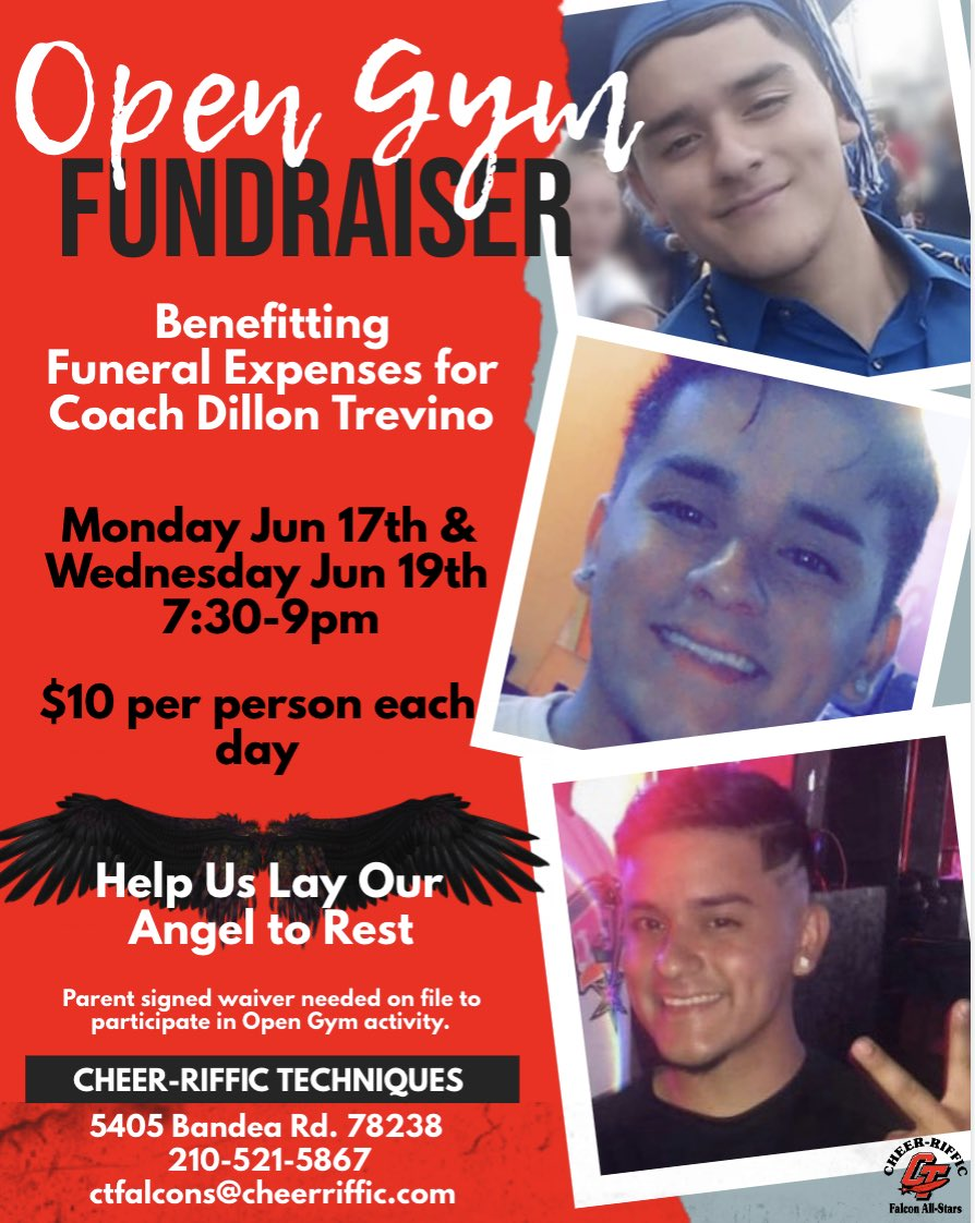 Our CT family is deeply saddened by the passing of Coach Dillon Trevino. We'll always remember Dillon fondly for his humor & smile, and we were lucky to have him. Our staff, athletes & parents  send healing prayers & comforting hugs to his family. We will miss you Dillon!  <br>http://pic.twitter.com/SIOPFNHVwi