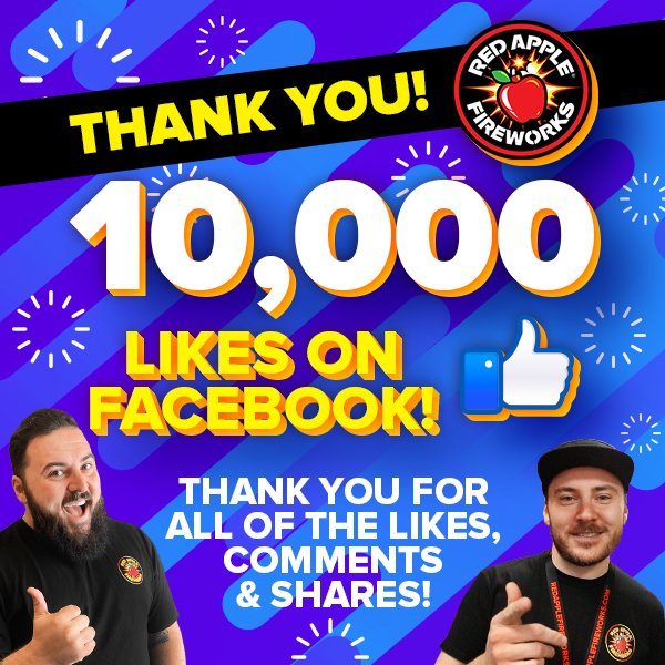 🚨 HFS! We've officially got 10,000+ Facebook Fans! 🚨  THANK YOU for the likes, comments, shares, views & everything you've done to help us reach this point!  Haven't liked us yet? Click here: http://bit.ly/2chj2zs   #welovethepyrosquad™ #welovefireworks® #litAF™