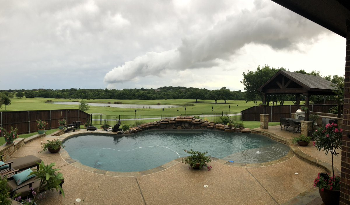 Pretty cool cloud front passing over our house today! #trophyclub #texasstorms #Clouds #storm #stormfront
