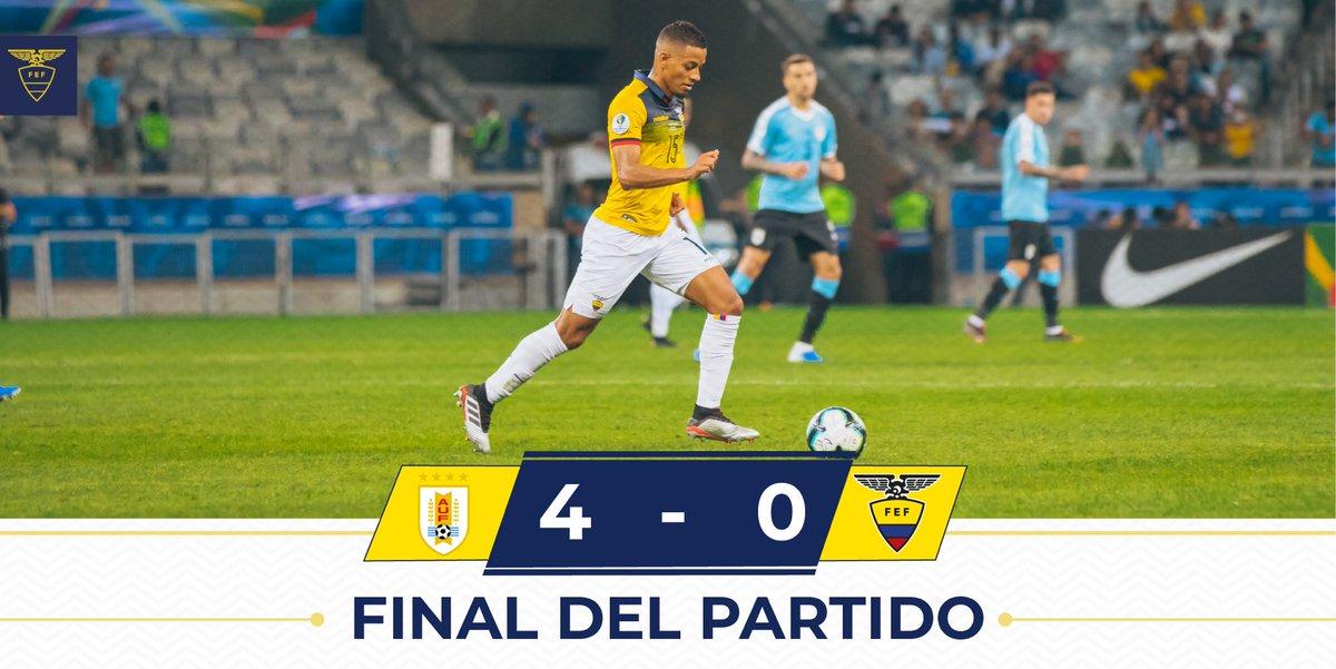 Final del partido #Uruguay 🇺🇾 4-0 #Ecuador 🇪🇨   #PorUnNuevoDesafío #CopaAmerica #VamosEcuador