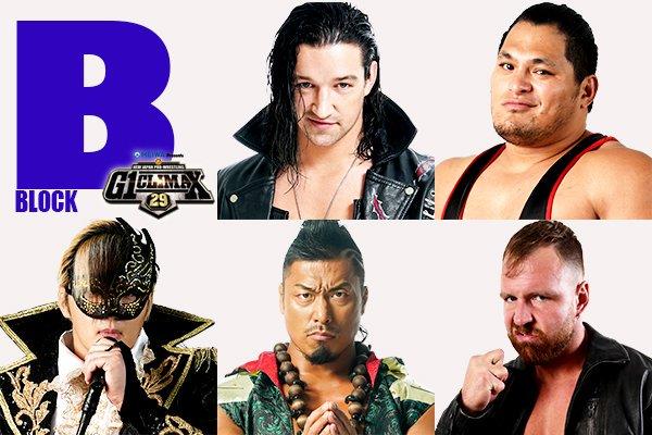 As revealed last night #g129 B Block Taichi White Takagi Cobb Mox Robinson Naito Yano Ishii Goto Who's your early pick? What do you think will be the best match of B Block? #njpw<br>http://pic.twitter.com/a4f3iBROag