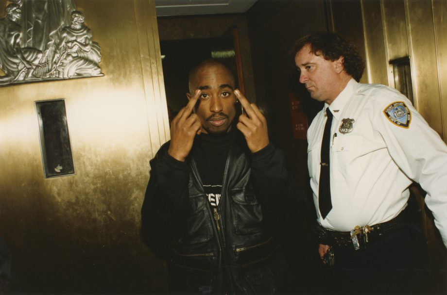 """""""2pac'll spark a revolution, fuck the Constitution. This time you got a bigger problem. Time to face niggas from South Central, Oakland, Brooklyn + Harlem + we ain't shootin' at each other (fuck no!) That's my motherfuckin' brother, so David Duke, run for cover."""" #2pacbirthday <br>http://pic.twitter.com/TtizhC14U5"""