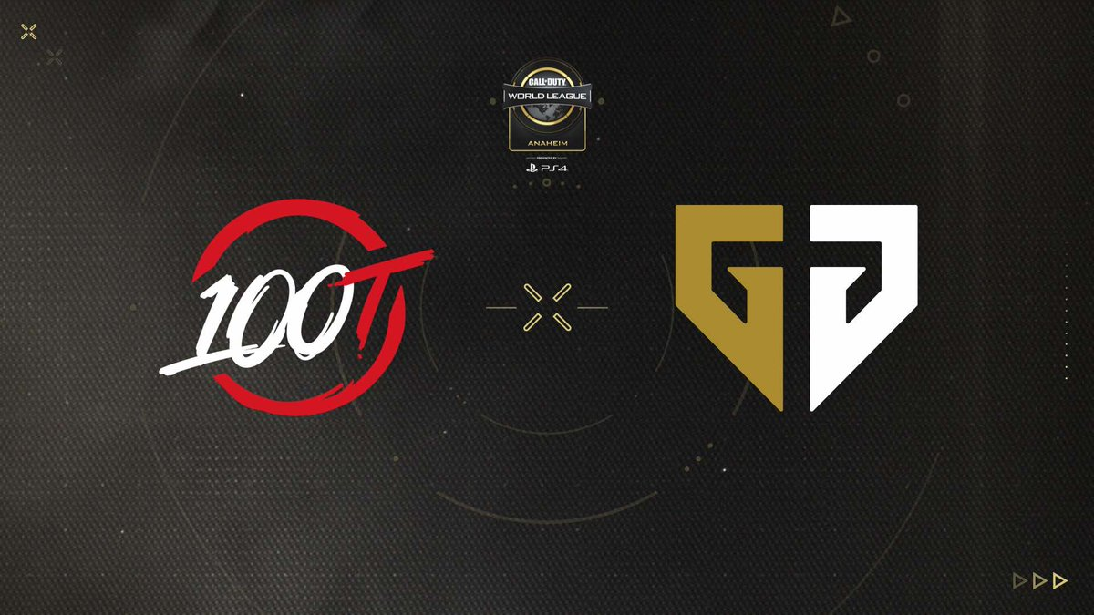 The CWL Anaheim Grand Finals are set! @GenG takes on @100Thieves for the championship! #CWLAnaheim! 🏆  #100T | #geng   📺: http://MLG.com/callofduty