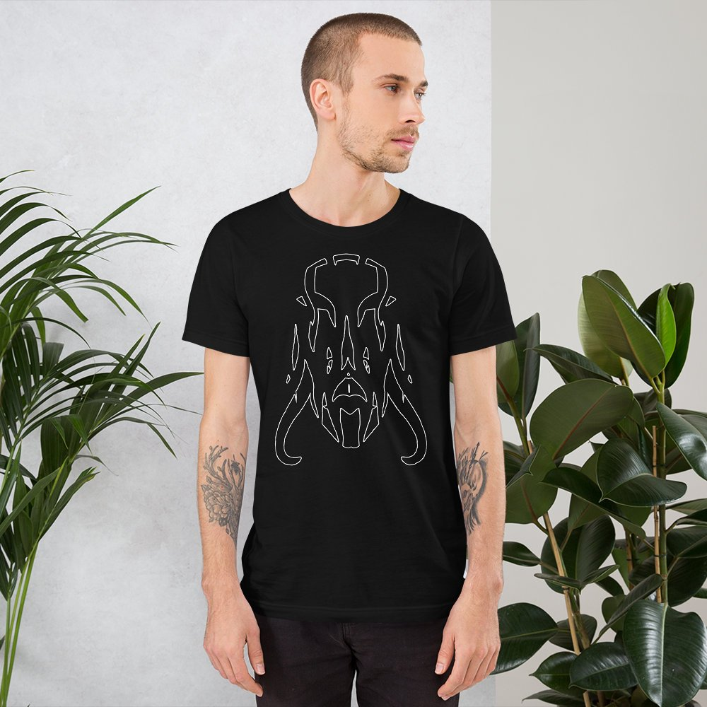c9cf5279b376 Tusked Demon - Short-Sleeve Unisex T-Shirt https://etsy.