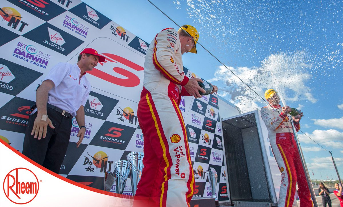 First ever team/driver to win the Triple Crown + podium finish for @FabianCoulthard + doing it in front of @Team_Penske president, @TimCindric = this rounds @rheem Australia Hot Moment 🙌 #VASC