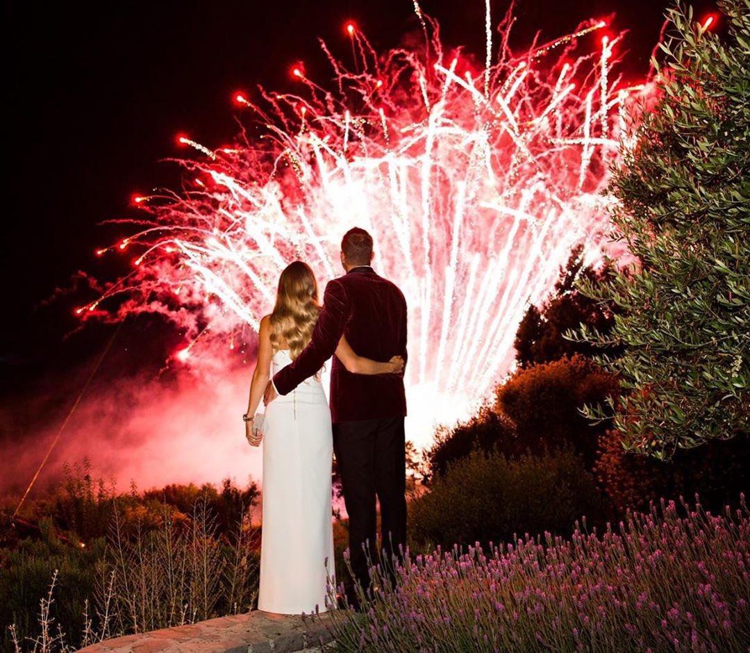 Newlyweds 🎇 Congratulations, @CaroWozniacki & @Dlee042. #AusOpen