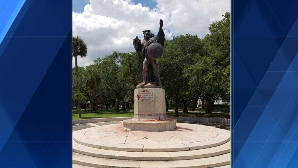 SC police arrest two people in connection with Confederate monument vandalism wyff4.com/article/sc-pol…