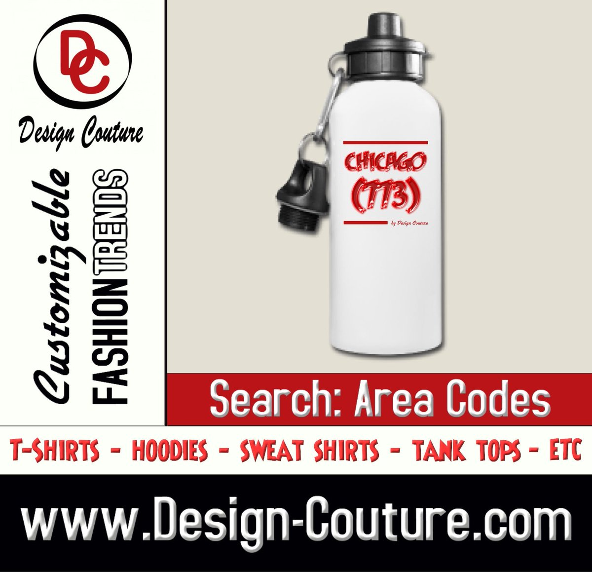 Make a Bold Fashion Statement with Design Couture Customizable Fashion Trends and More.  Design: Chicago (773) Search: Area Codes https://t.co/NACycnvT1Y  Order yours today!  New Designs Uploaded Daily!  Design Couture is a division of JiGANTiC Entertainment https://t.co/UYoDaRangM