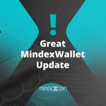 Image for the Tweet beginning: Great MindexWallet Update   Therefore, the
