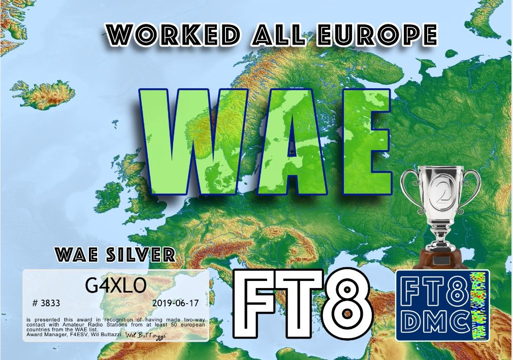 Morning World.. Another one to add to the list and catching @GeorgeG7not up fast! This time for 50 countries in Europe  @BCRLiveStream #hamradio #hamr #amateurradio