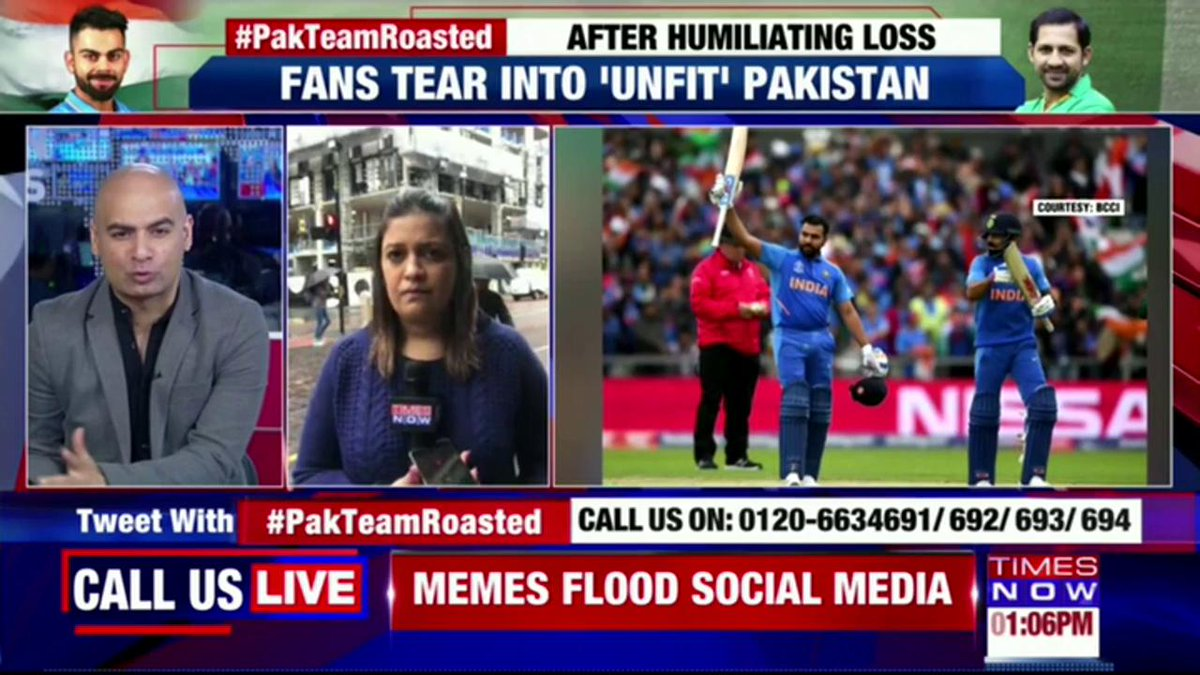 Pakistan fans mock Team Pakistan after being thrashed by Team India in World Cup 2019 on Sunday. 'Yawning' Captain Butt of all jokes. 'Pot-bellied' Sarfaraz lambasted. 'Pakistan's lowest cricketing moment?' | @karishmasingh22 with details from UK. | #PakTeamRoasted