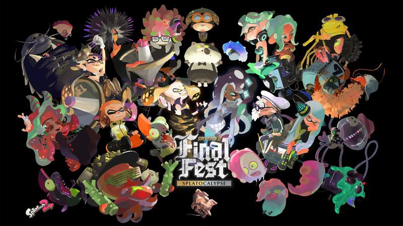 Now that Unicorn vs Narwhal, Kid vs Grown-up and Without Pineapple vs With Pineapple all having concluded, one #Splatfest remains.  Ladies and gentlemen, brace yourselves, for in one month, arrives the #FinalSplatfest, the Splatocalypse!   #Splatoon2