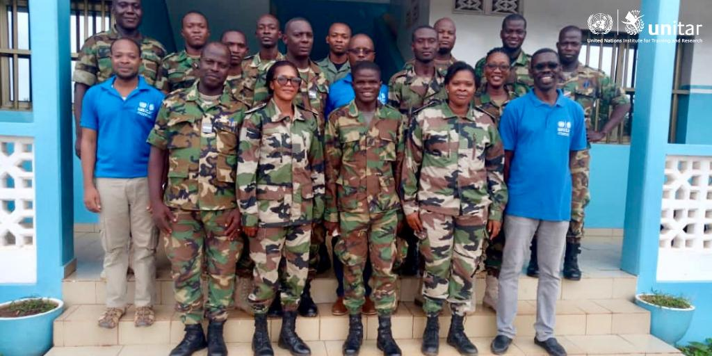 Congratulations to all the participants of the #training of trainers for @UN_MINUSMA peacekeepers, successfully completed in Lomé, Togo, last week. #ServingForPeace #A4P