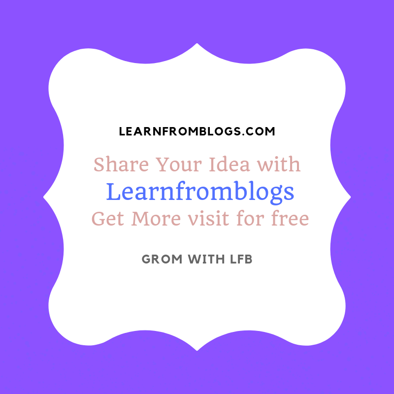 Share your #idea with #learnfromblogs and #grow with #lfb. Get more with us. #blogger #blog #blogging. #learning https://t.co/ahBVnFfVGU