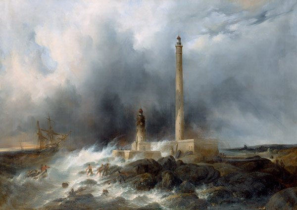 @aiaggaia Jean Louis Petit - View of the Lighthouse at Gatteville