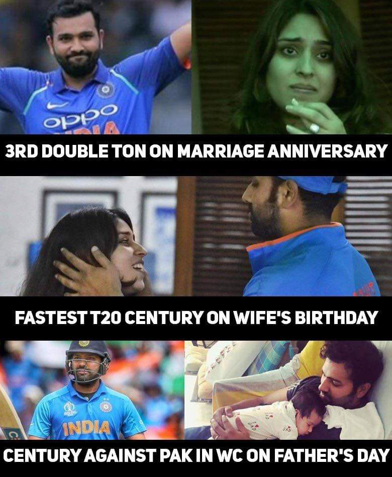 Such a family man. #WorldCup2019 #RohitSharma<br>http://pic.twitter.com/uu48UTlnHt