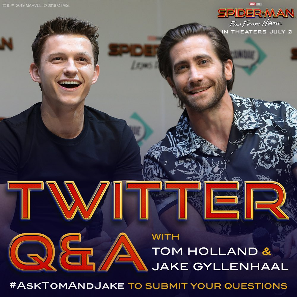 @SpiderManMovie's photo on #AskTomAndJake
