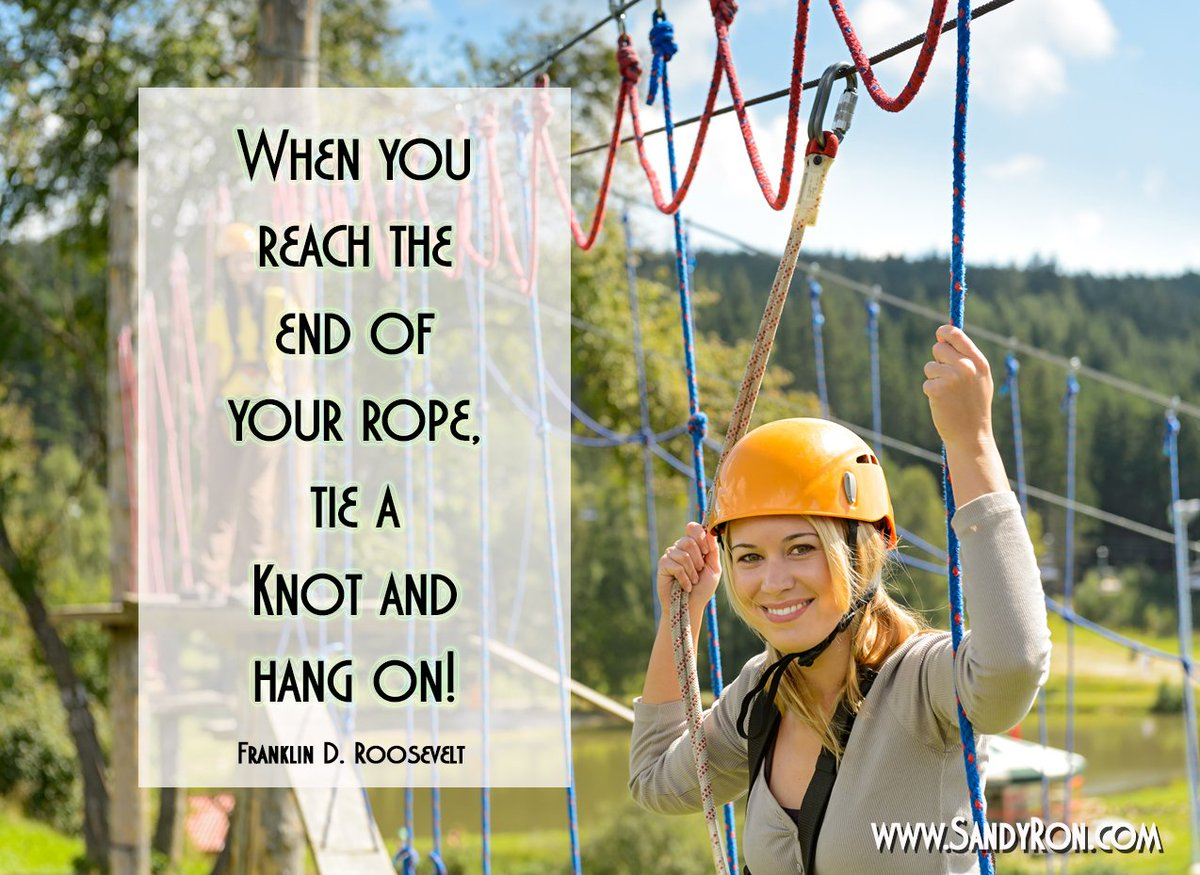 When you reach the end of your rope, tie a knot and hang on! #quotes #successquotes <br>http://pic.twitter.com/8ENzsD1xmx