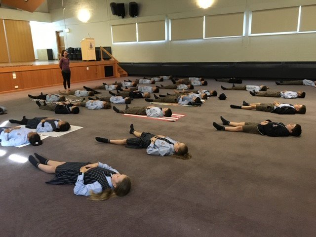 As a part of our Unit of Inquiry 'Who we are', many of our Year 6 students identified sleep as being an area they'd like to learn about. To assist with developing good sleep patterns & to learn more about this area, students today participated in a short yoga course.