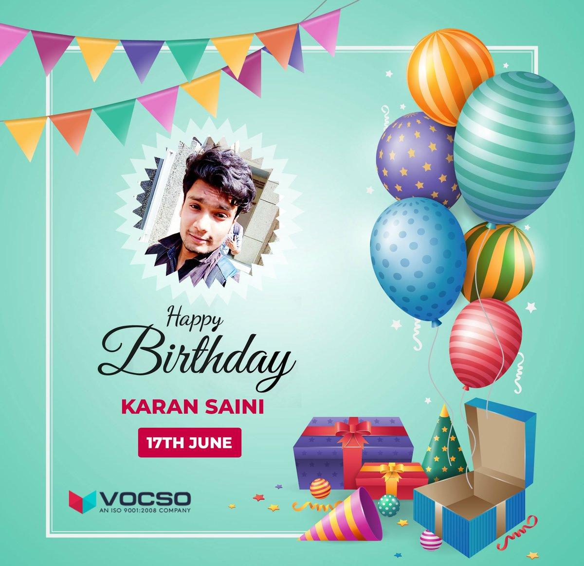VOCSO Wishes Karan Saini, a very happy birthday