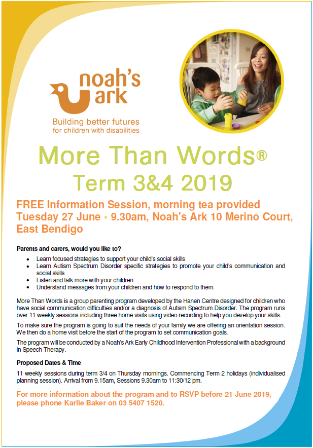 Everyday Learning and Therapy in Schools  | Noah's Ark Australia