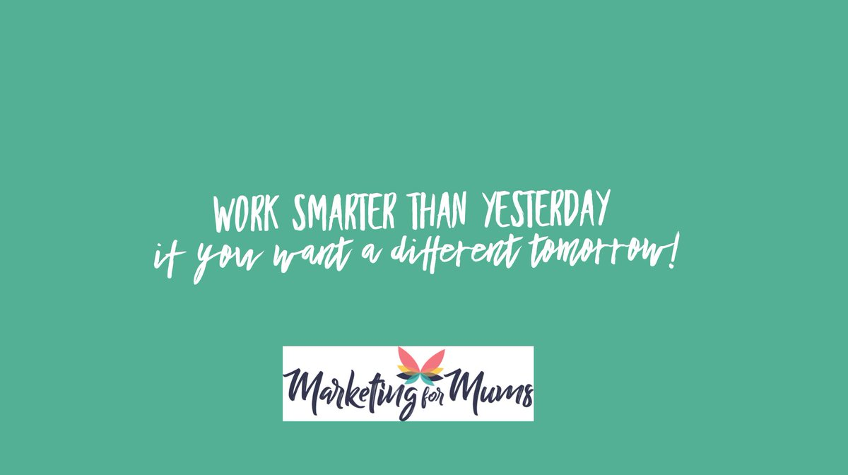 Work smarter than yesterday if you want a different tomorrow. #personaldevelopment #worklifebalance<br>http://pic.twitter.com/8Khm9TfyE8