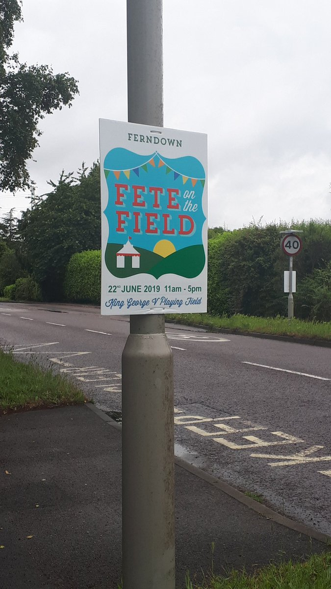 The signs are up! Look forward to seeing you there on Saturday 22nd June #WOID #dorset #fete #familyfun  http://www. ferndownfotf.org     <br>http://pic.twitter.com/XzWsUirs2v