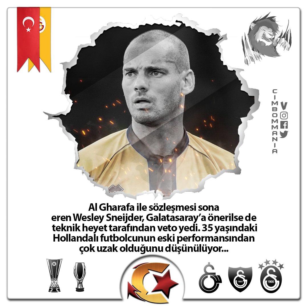 💢Cim Bom, Sneijder'i aktif futbolculuk kariyerini noktaladıktan sonra kulüp bünyesinde görevlendirebileceğini iletti. Sarı-Kırmızılı taraftarların sevgilisi olan Wesley, 5 senelik Galatasaray kariyerinde 2'si lig şampiyonluğu olmak üzere toplam 8 kupa kazanmıştı...