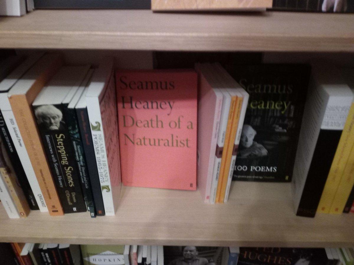 Seamus Heaney books spotted in Paris! @SeamusHeaneyNLI