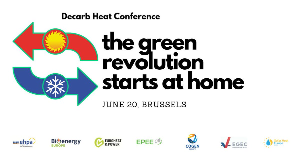 Attending #EUSEW19? Drop by at @DecarbHeat's 𝗧𝗵𝗲 𝗚𝗿𝗲𝗲𝗻 𝗥𝗲𝘃𝗼𝗹𝘂𝘁𝗶𝗼𝗻 𝗦𝘁𝗮𝗿𝘁𝘀 𝗮𝘁 𝗛𝗼𝗺𝗲 event this Thursday 20 June from 11.00 to 12.30. Co-organised with @IRENA, @Fedarene & the Hotmaps, PlanHeat & RELaTED projects. #decarbhome #1o5c #vision2050<br>http://pic.twitter.com/7NZf5fzF6A