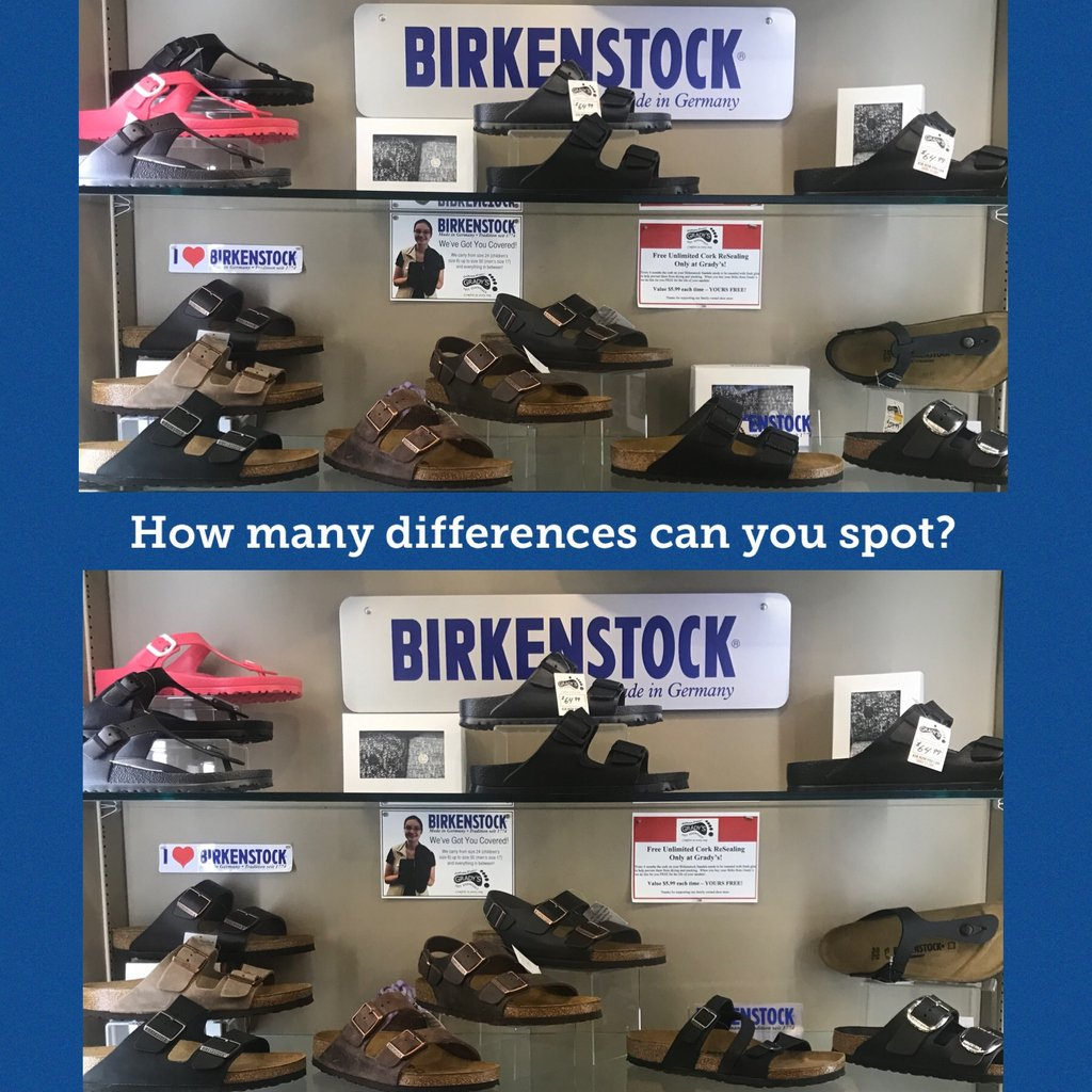 test Twitter Media - How many differences can you spot? #BirkenstockHeadquarters #Birkenstock #sandals #howmanydifferencescanyoufind @lansdowneplace #ptbo https://t.co/TtknL0SYyl