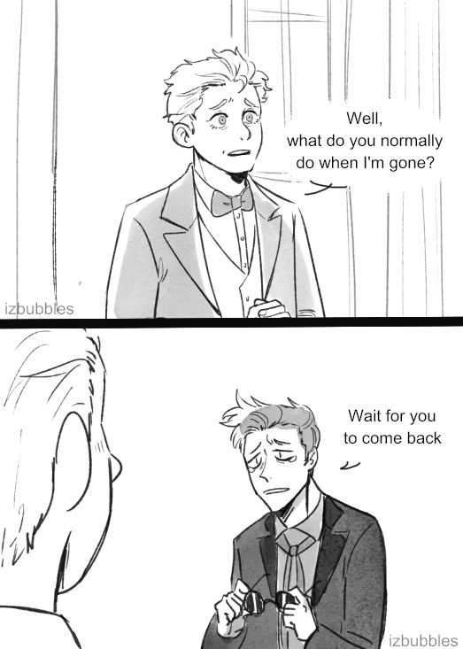 i just had to draw this real quick #goodomens