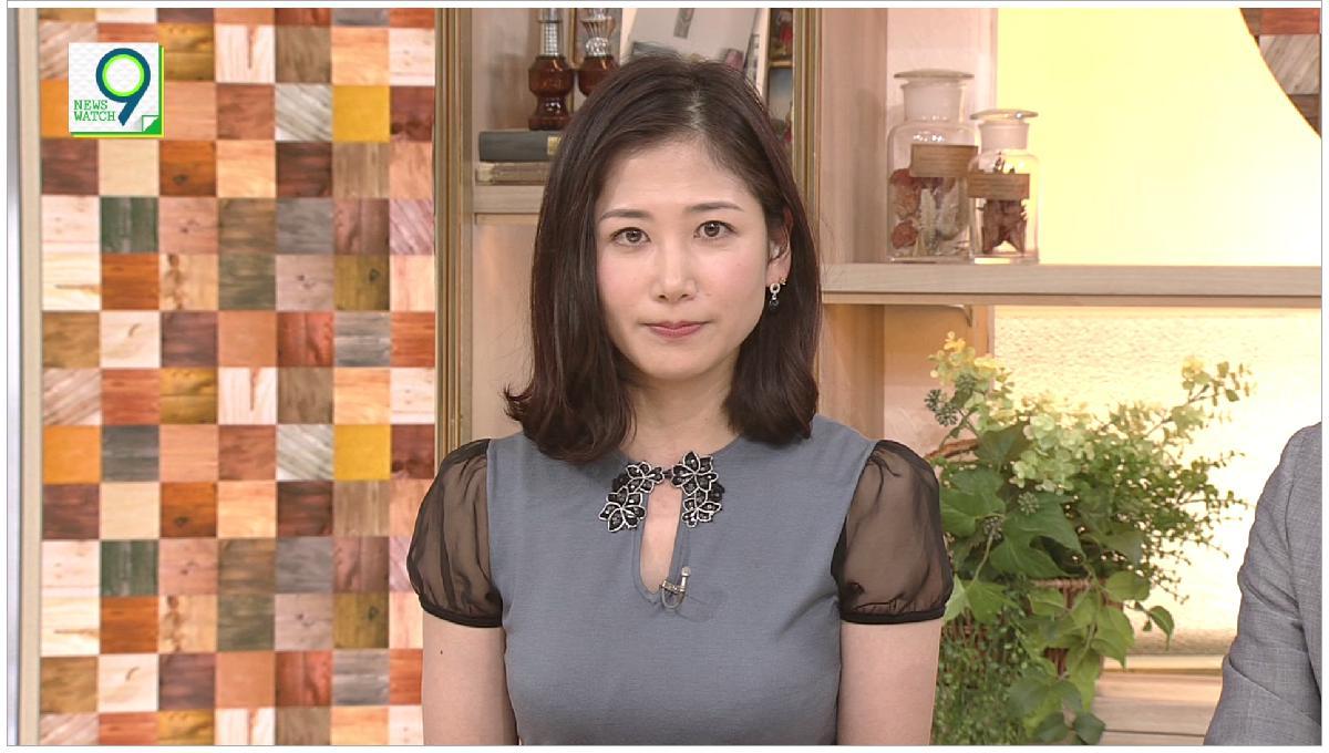 桑子 アナ の 衣装 に 視聴 者 騒然