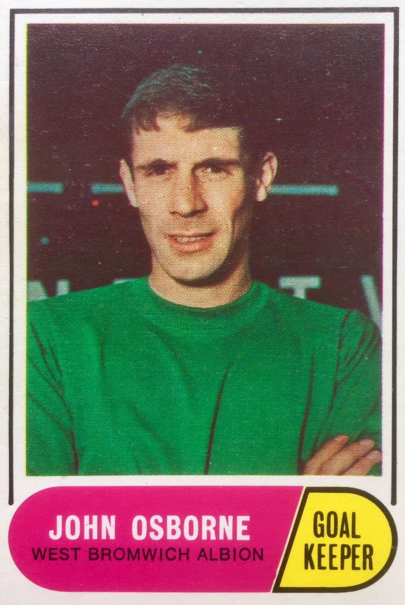 JOHN OSBOURNE WEST BROM WBA A&BC-FOOTBALL 1969 GREEN BACK FACTS-#113