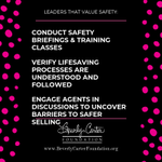 Quick safety updates in Brokerage Social Media Forums & Sales Meetings go a long way!  💗
