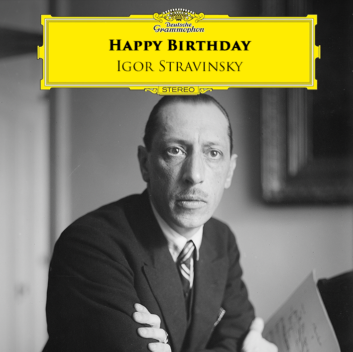 Today we celebrate Igor Stravinsky's birthday! During the course of a long career, the Russian composer expressed himself through an astonishingly wide variety of music. Have a good start into the week by discovering Stravinsky's best music works:  https:// DG.lnk.to/stravinsky     <br>http://pic.twitter.com/3VxRxCCo6e