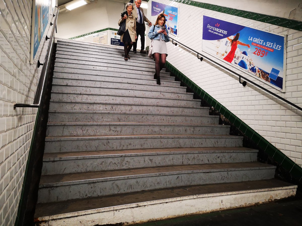 I am always  really disappointed the situation of @Paris #subway. I am not talking about #disabled. It is for your parents..