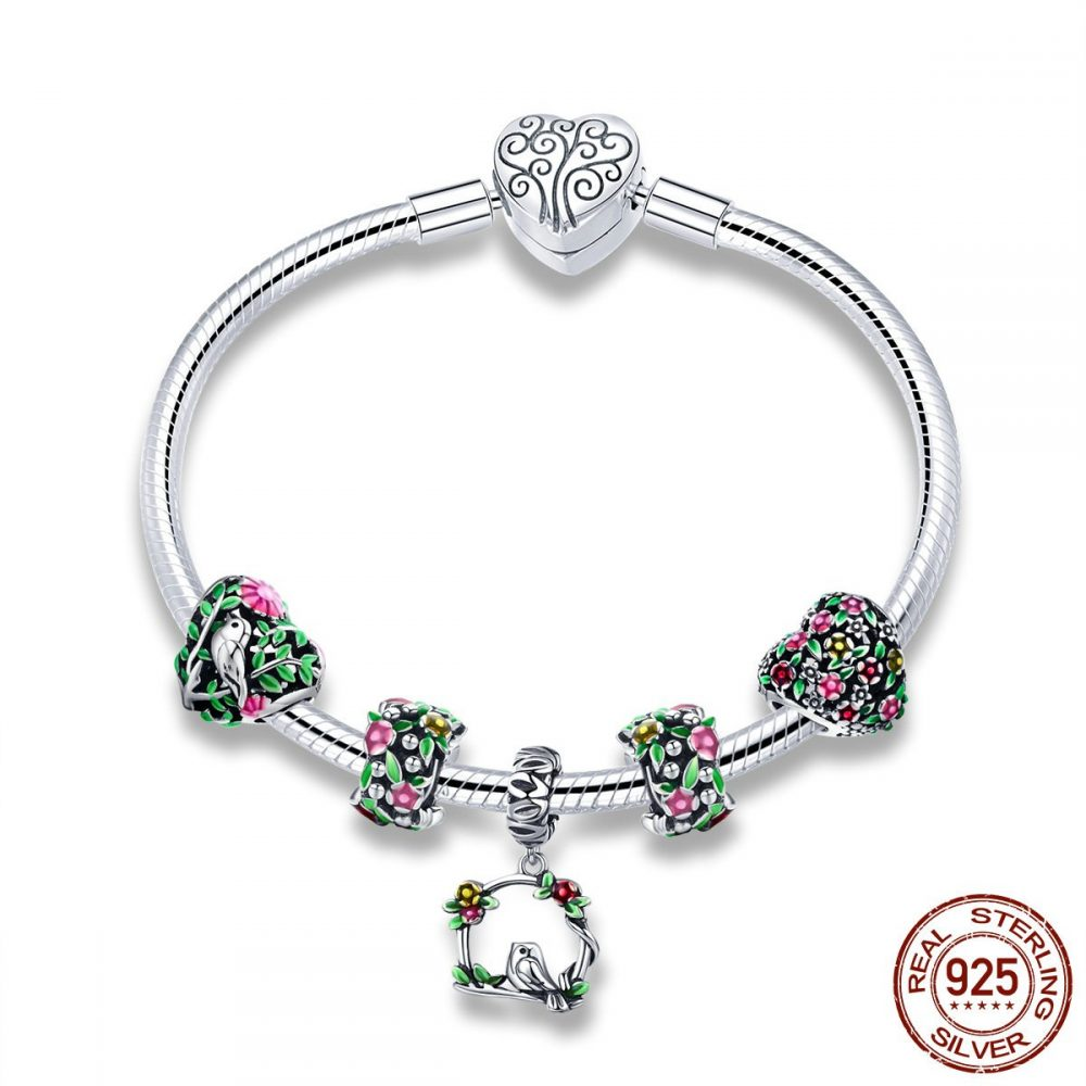 #summer #white Women's Sterling Silver Bird Decorated Charm Bracelet https://t.co/JFpMr7GJjH https://t.co/mbRNs5dDY5