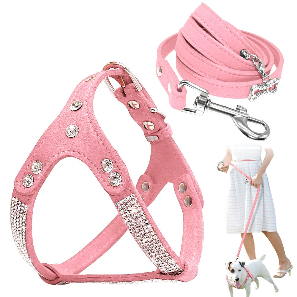 #dog #pets Soft Rhinestone Leather Set Dog of Harness & Leash https://t.co/idpX1poR3u https://t.co/A1yotCyAP1