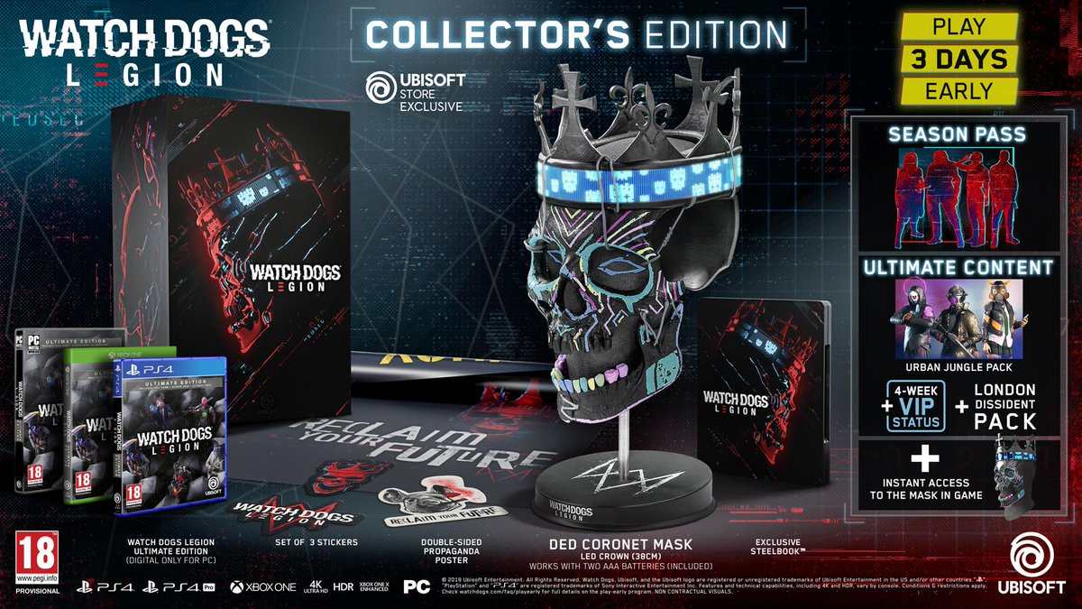 Steelbook On Twitter Watch Dogs Legion Knows That A Game Is Never Complete Without Its Beautiful Steelbook Case Get Your Hands On It March 3rd With Your Collector S Edition Steelbook Collector E3