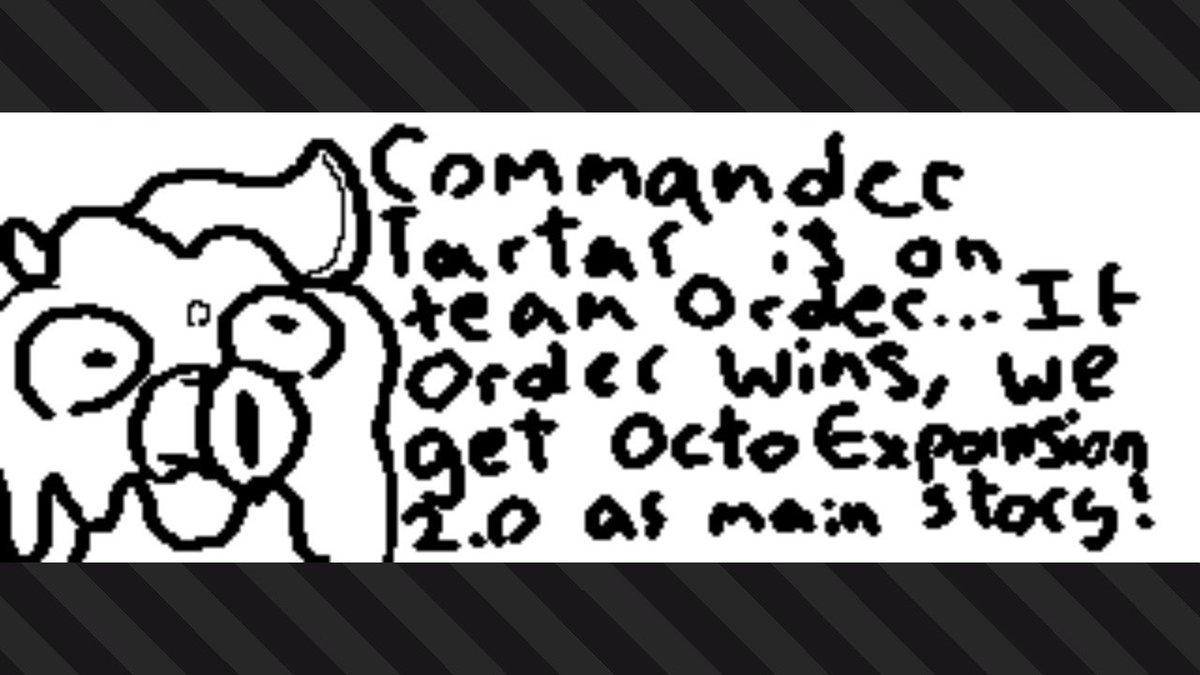 #Splatoon2 #NintendoSwitch #TeamOrder #TeamChaos #splatocalypse #finalsplatfest #finalfest #splatfest sorry for my bad handwriting.